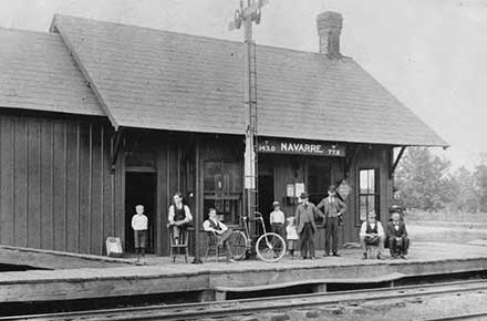 Navarre Railroad Depot, Wheeling and Lake Erie Railroad, 1895
