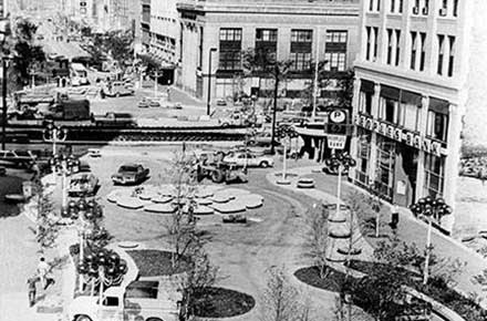 Federal Plaza in downtown Youngstown, 1974