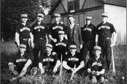 The Burton Athletic Club Baseball Nine. September 4, 1897