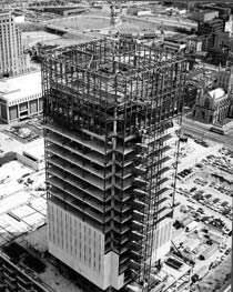 A view Rhodes Tower during construction