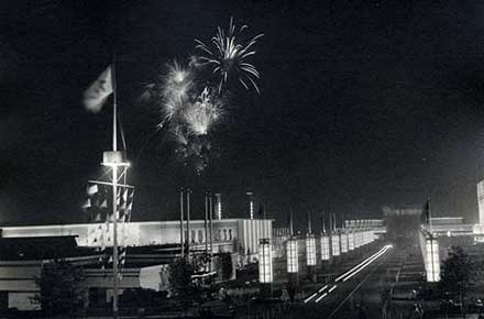 Fireworks at the Great Lakes Exposition